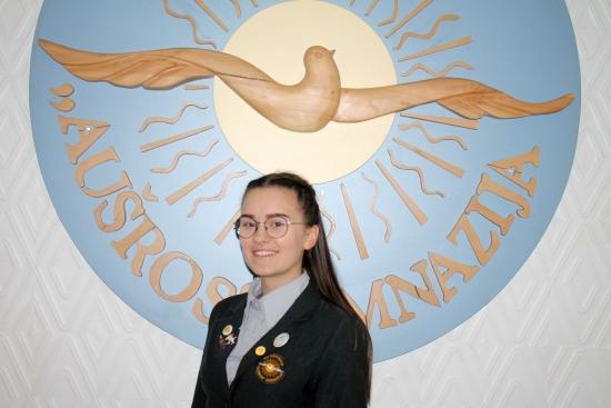 2019-2020 m. m. gimnazijos prezidente, Gabija Sarunaite